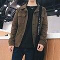 New 2017 spring casual single breasted lapel corduroy jacket men veste homme men's clothing 4-colors size m-3xl JK22