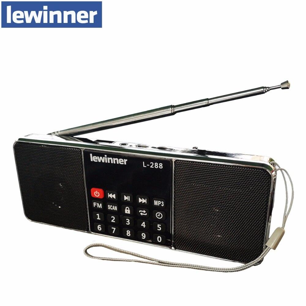 D'origine lewinner L-288 Portable FM Radio Haut-Parleur Lecteur de Musique Avec TF Carte USB Disque D'entrée LCD Écran Haut-parleurs