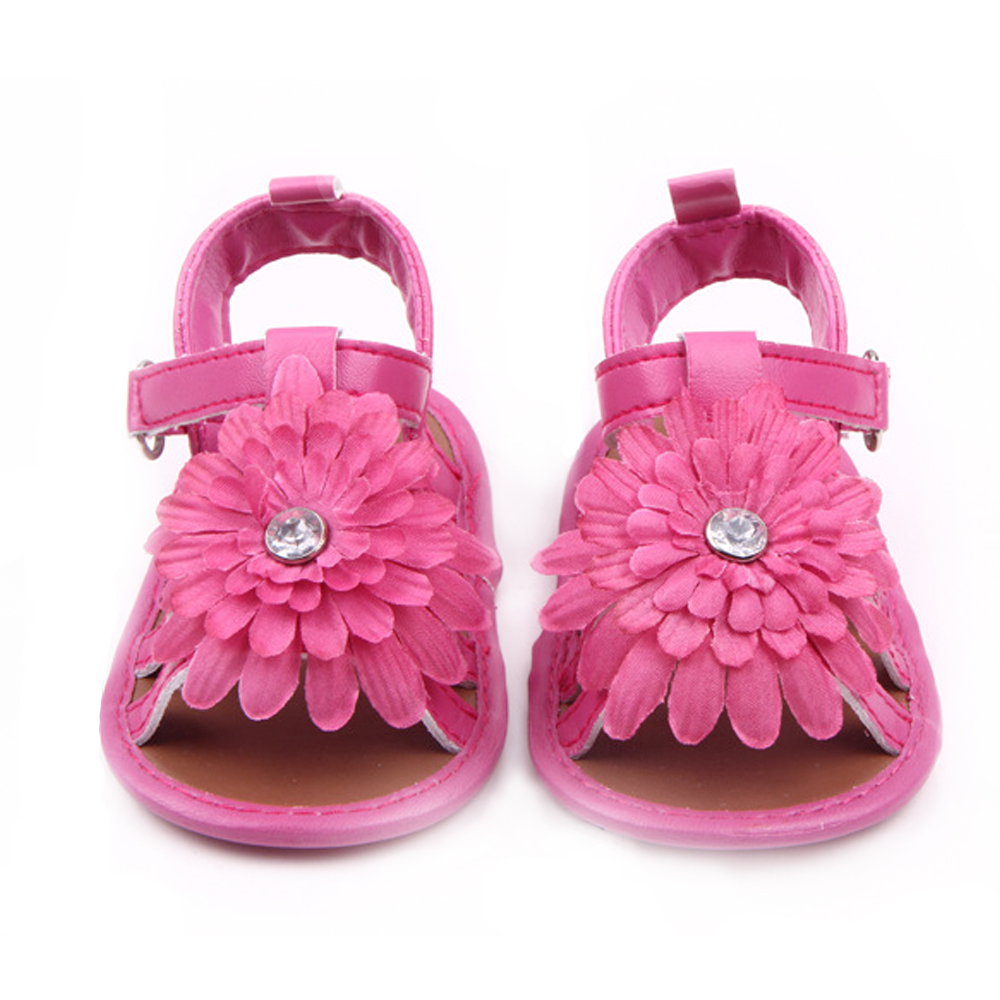 7f40a93cf0b7 Baby Girl Sandals Brand Summer Princess Shoes Newborn Infant Toddler  Leather Shoes Fashion Diamond Flower Flats Child Slippers-in Sandals    Clogs from ...