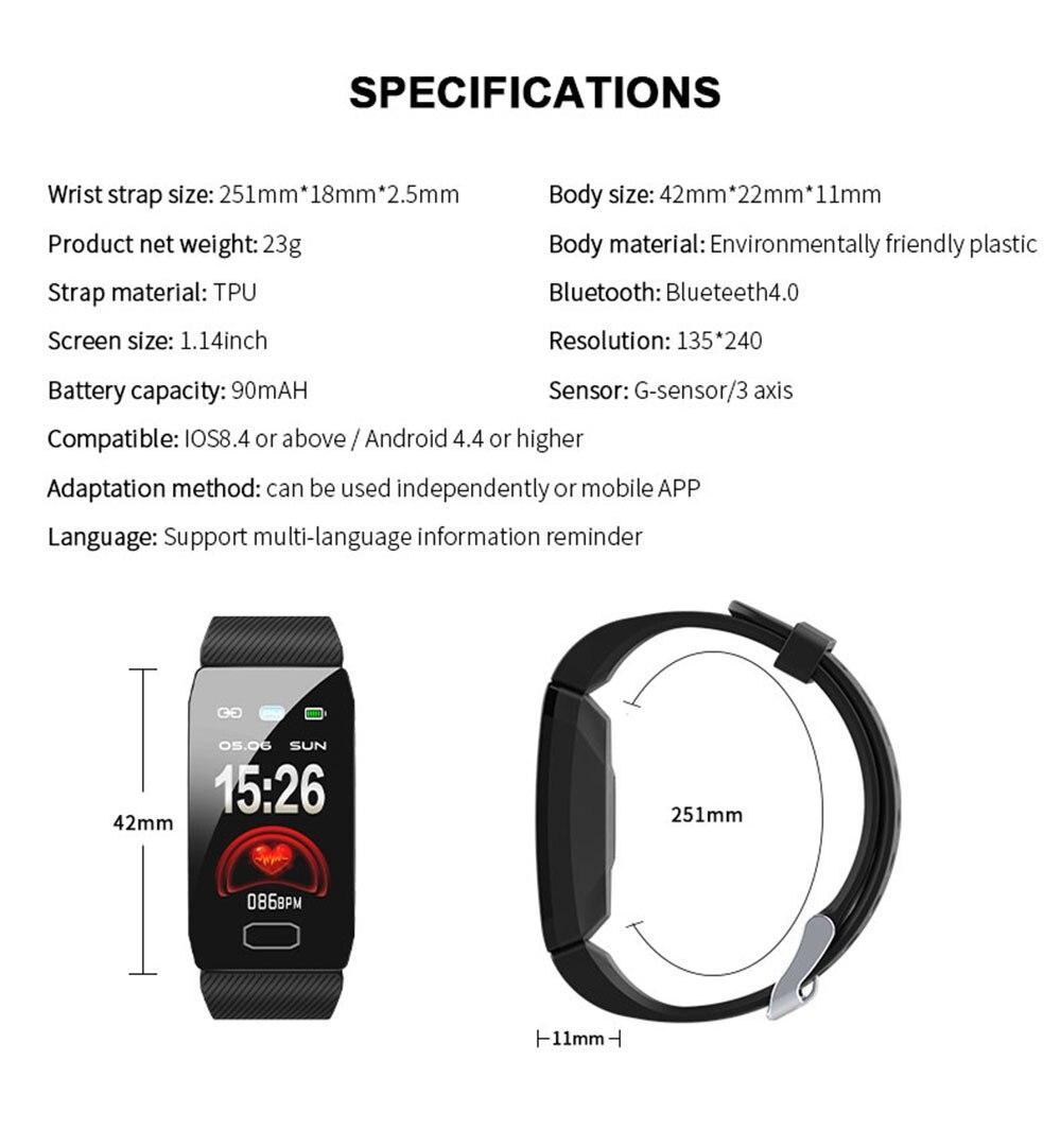 HTB1Yge9XQY2gK0jSZFgq6A5OFXaM Smart Band Blood Pressure Q1 Heart Rate Monitor Fitness Tracker Smart Watch Fitness Bracelet Waterproof Weather Display Women