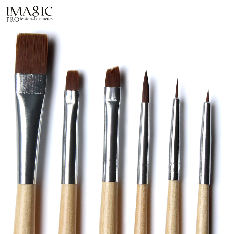 IMAGIC Halloween Face Body Paint Oil Painting Art Make Up Set Tools Party Fancy Dress 12 Flash Tattoo Color 6pcs Paint Brush in Body Paint from Beauty Health