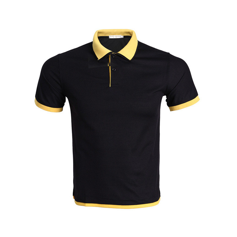 2640871f442e New Black Polo Shirt Men Polo Homme 2017 Summer Style Solid Color Double  Collar Design Mens Polos Brand Polo Shirts Xxxl