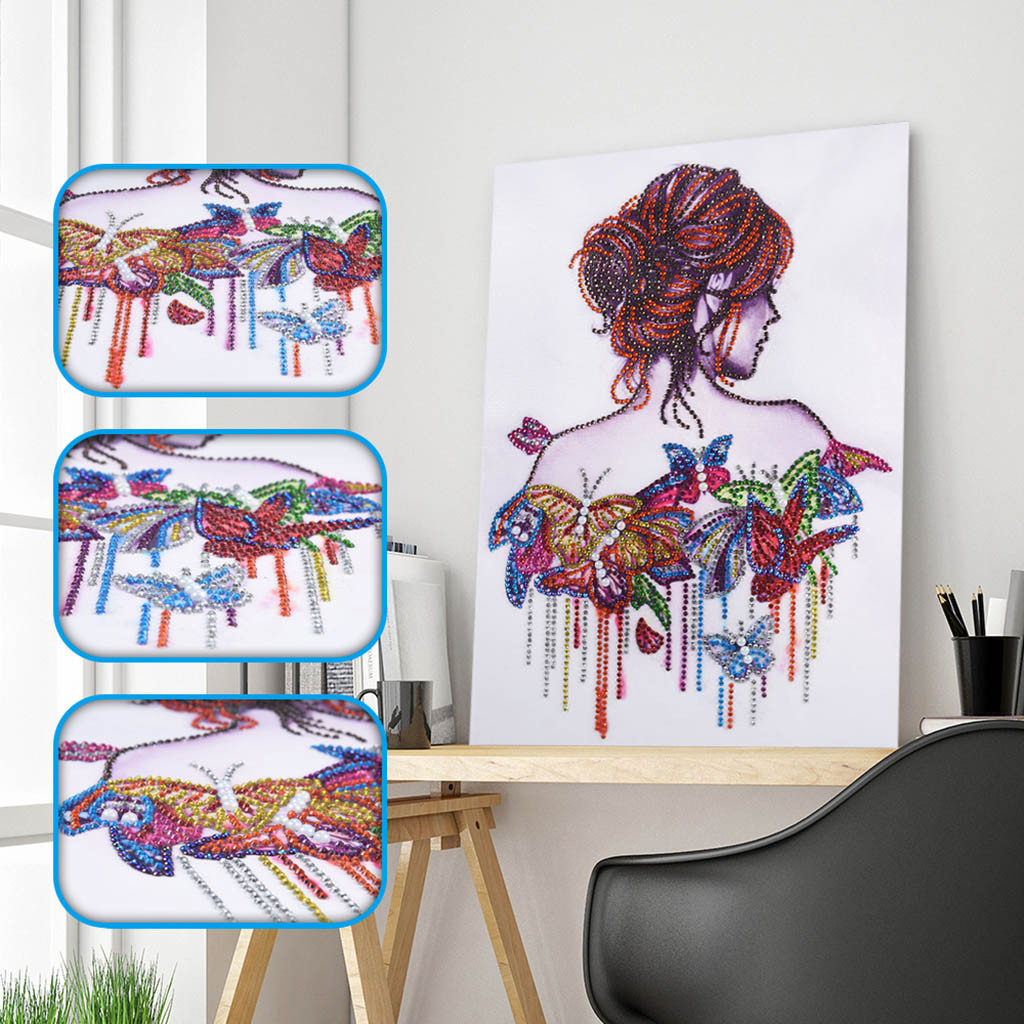 Special Shaped Diamond Painting DIY 5D Partial Drill Cross Stitch Kits Crystal H