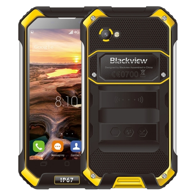 Original 4g blackview bv6000 32 gb rom 3 gb ram ip67 a prueba de agua teléfono 4500 mAh 4.7 pulgadas Gorila Glass Android 6.0 Octa MT6755 núcleo