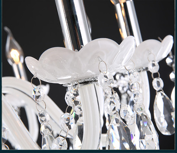 K9 2/4/6/8/10/12/15/18 Arm Lichter Weiß LED Kerze Kristall-kronleuchter Wohnzimmer Licht Vintage Kristall Kronleuchter E14 Licht