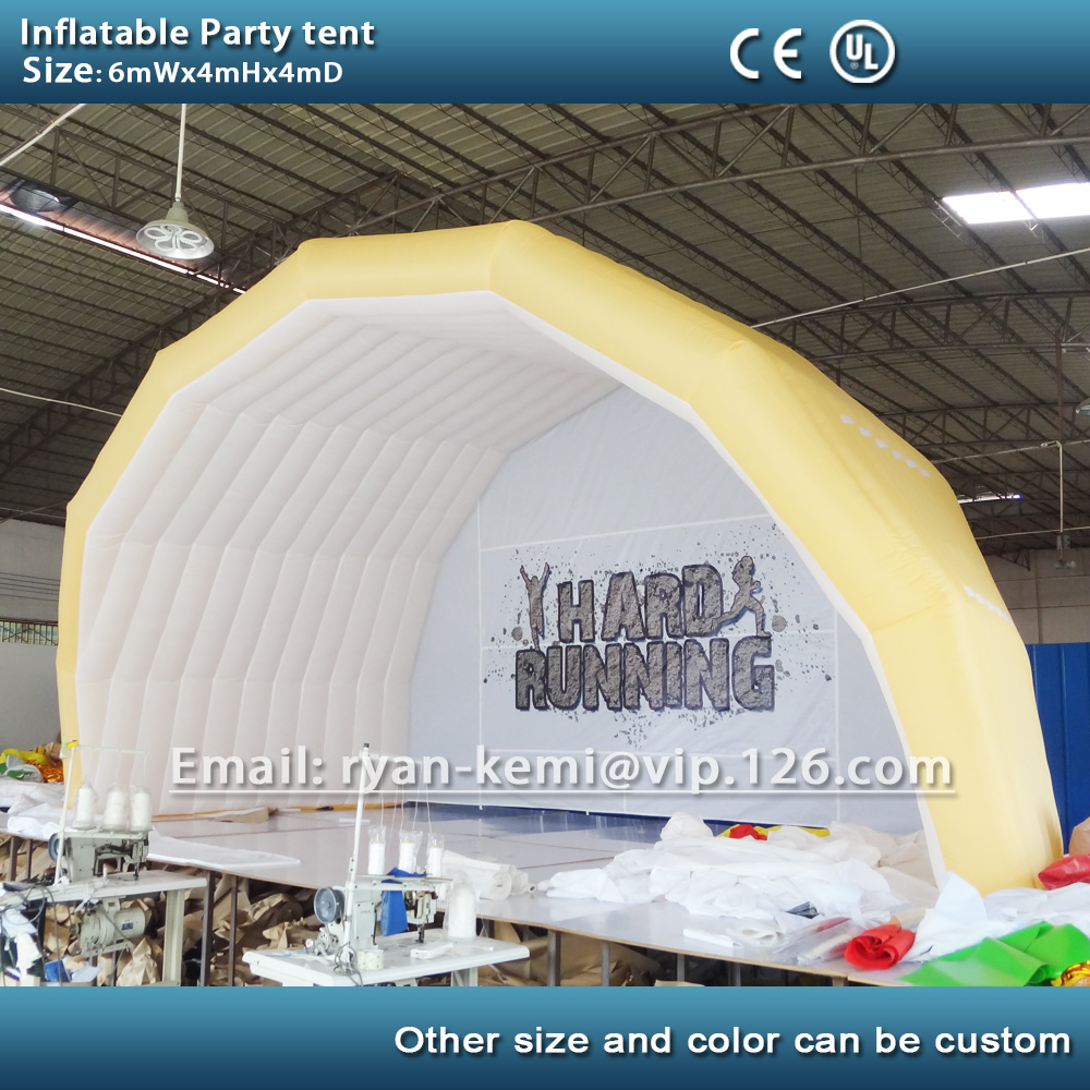 6mWx4mH Inflatable party tent inflatable tent for outdoor events inflatable marquee with custom logo personal activity inflatable mobile pub tent for family party use