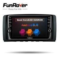 Funrover ips 8''2 din Автомобильный Радио gps android 8,0 для Mercedes Benz R класса W251 R280 R300 R320 R350 R500 R63 автомобильный dvd проигрыватель с gps