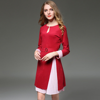Make The New Two Piece Leisure Waist Dress Split Temperament Skirt Suit