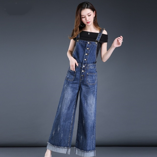 c9c8802a8c40 Dungarees women blue jeans denim overalls women jumpsuit female 2018  Chinese style jumpsuits for women 2018 DD1450