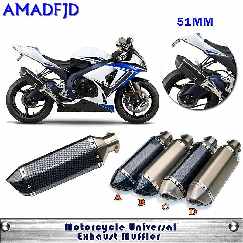 Modified Motorcycle Universal  RACING Akrapovic Exhaust Pipe Muffler Scooter GP Pipe Dirt Bike For Most MotorBike universal carbon fiber color motorcycle scooter modified muffler exhaust pipe cb600 yzf fz400 z750 racing