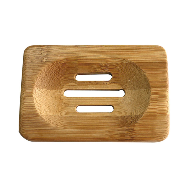 New Portable Soap Tray Holder Natural Bamboo Wooden Soaps Dish Box Case Container Wash Shower Storage Stand Home Bathroom Tool