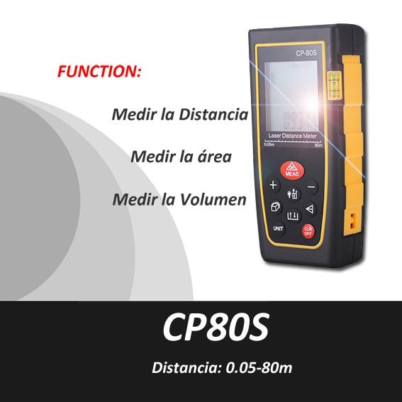 ФОТО Trena Metro laser, Medidor Metro Distancia Laser,0.5-80m, Medidor volumen laser,medidor area laser, Cinta Metrica, CP80s