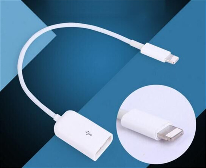 5PCS 8 Pin male to USB female OTG Adapter Cable for Camera Connection Kit Dock 8pin Connector for iPad 4 Mini Above IOS 9.0