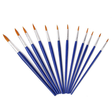 12pcs Paint Brushes Sharp Size Assorted