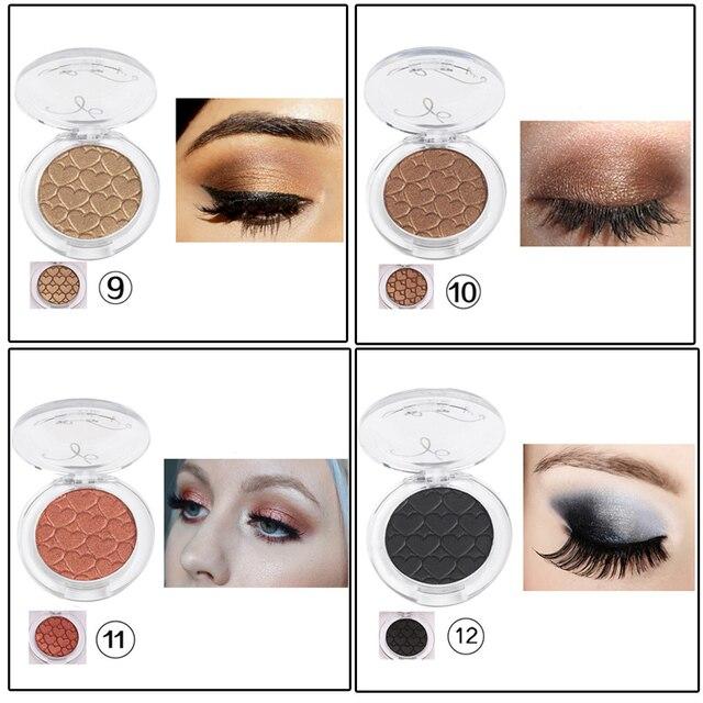Pigment Single Eyeshadow Matte Shimmer Eye Shadow Glitter Pink