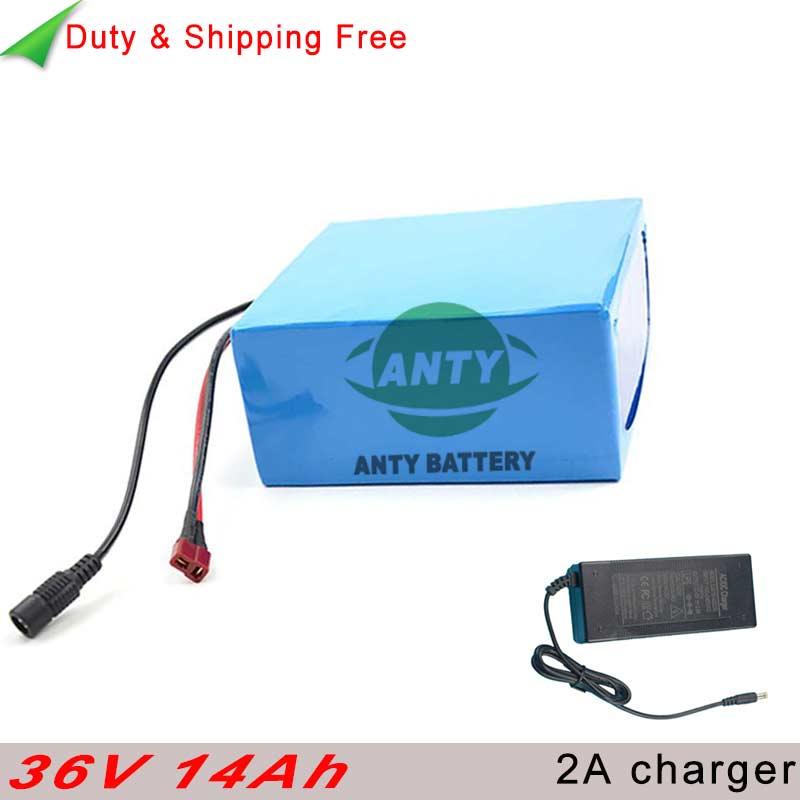 500w Electric Bicycle Battery 36v 14ah eBike Battery 36v with Charger 30A BMS Lithium ion Battery Pack 36v Free shipping & Duty free customs taxes and shipping e bike hailong battery akku ebike lithium ion battery pack 36v 10ah with charger and bms
