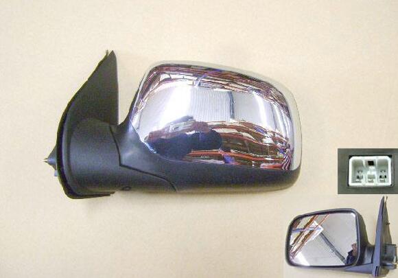 Izquierda/derecha espejo retrovisor exterior para gran pared Wingle 3 negro, mate, liso, chapado