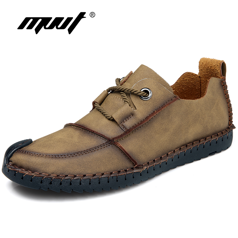 Plus Size 46 Casual Shoes Men Loafers Hand-made Split Leather Men Flats Shoes Spring/Autumn New Men Shoes Zapatos hombre yierfa fashion men shoes summer autumn split leather lightweight brand breathable casual shoes flats zapatos plus size 38 48