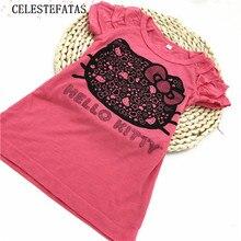 Футболка для девочек детская футболка для девочек топы для детей футболка детская одежда топы для девочек; K6273 летняя одежда 1 шт./лот D-XC027-1P