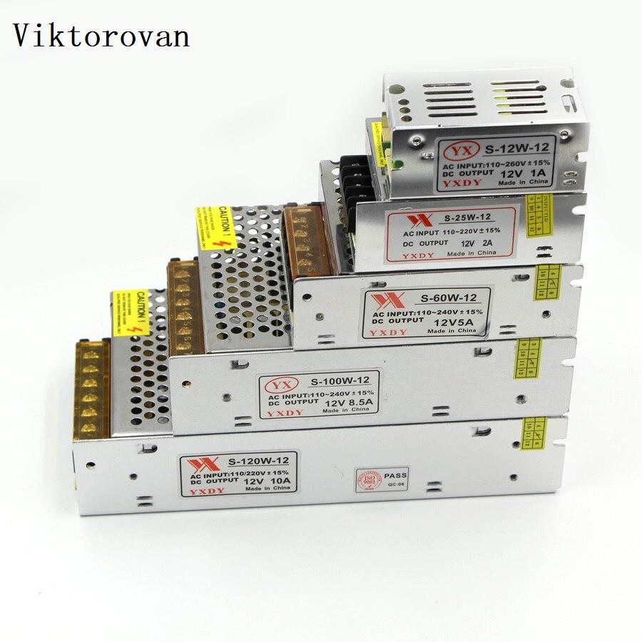 LED Strip power supply DC 5V 12V 24V AC 100V - 240 V 110V 220V 1A 2A 3A 5A 10A 50A LED Strip Power Supply DC Adapter Transformer ac110 220v power supply adapter transformer led strip 2a 3a 5a 8a dc 5v 12v 24v 5v 12v 24v power supply adapter us eu uk au plug