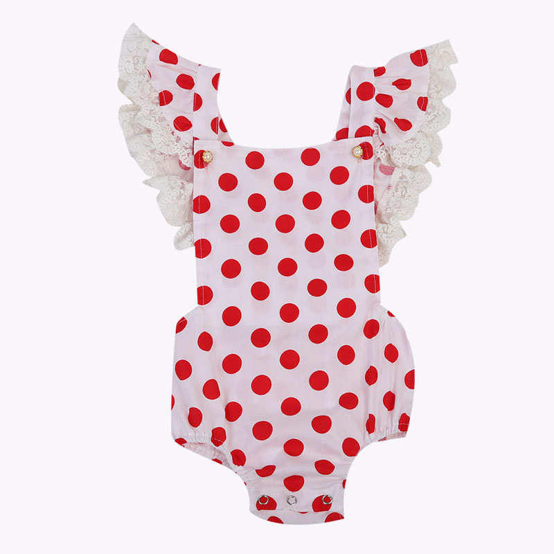 New Cute Newborn Toddler Baby Girl Infant Clothes Lace Floral Romper Sleeveless Jumper Outfit