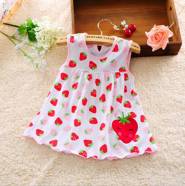 Baby girl Dress 2018summer girls dresses style infantile Dress hot sale baby girl clothes Summer flower style dress low price