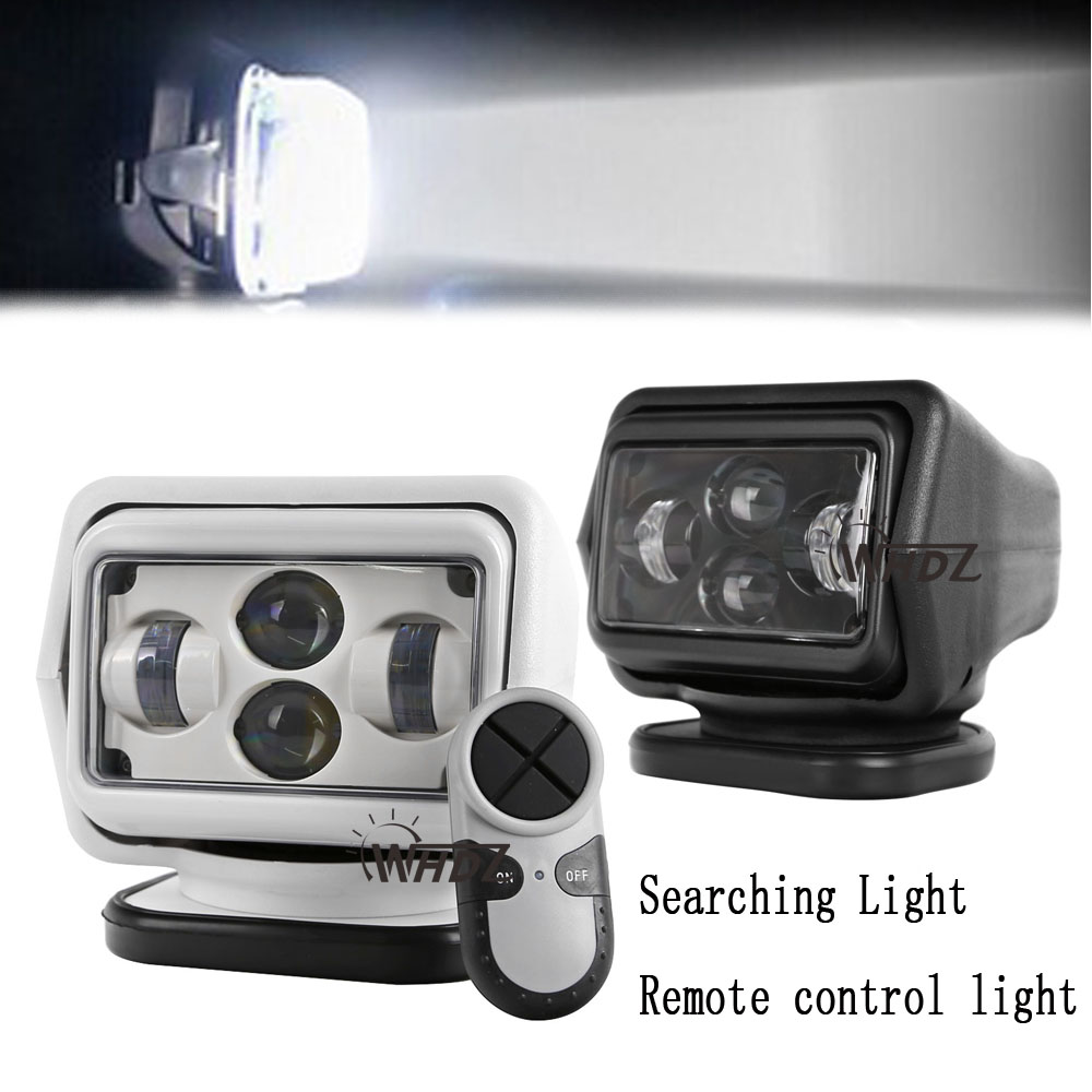 1pc 7inch 60W LED Auto Wireless Search Spot Light 12V 7 led Remote Control Work light 12V Led Remote Control Searching Light
