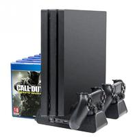 Game Storage Fan Charging Vertical Cooling Stand For PS4 Slim PS4 Pro Replacement Accessories USB Cable Cooling Stand