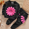 Monkids Girls Clothing Sets Sunflower Long-sleeved Cotton Suit Children Clothing Set Set Tracksuit For Kids Set