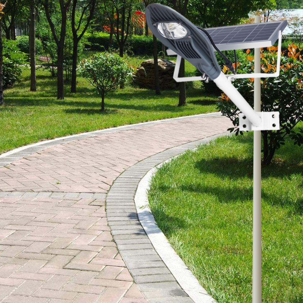 10W Solar Light Motion Sensor Outdoor Garden Waterproof Wall Lamp Zinc Alloy IP65 Light Sensor Control Energy Conservation sink mobility models for sensor energy conservation