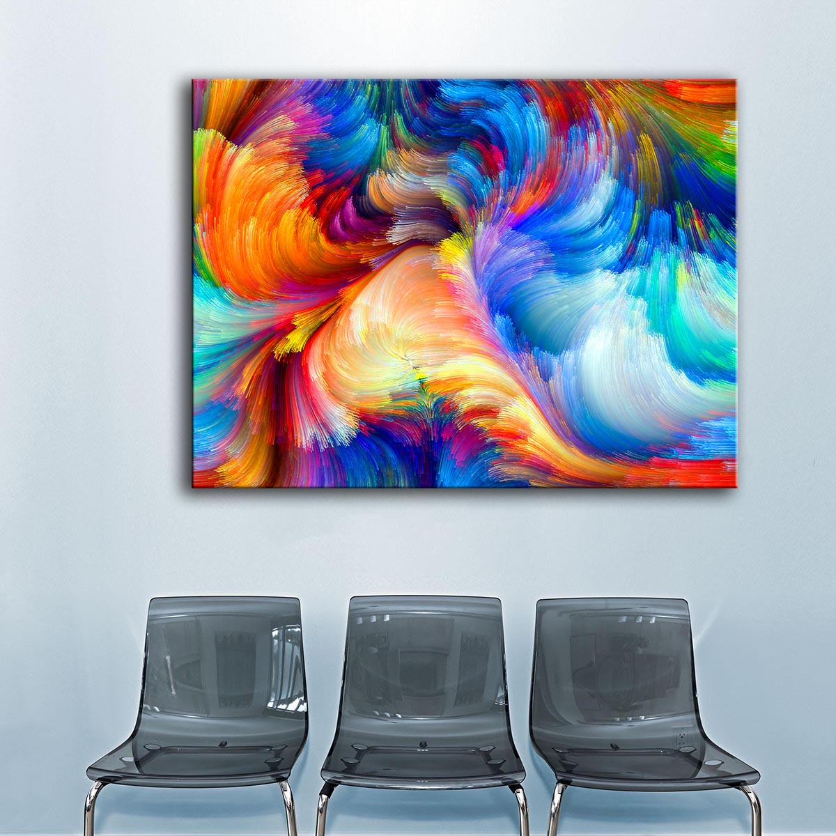 Riesige Größe der regenbogen die farbe blur muster wandmalerei für ...
