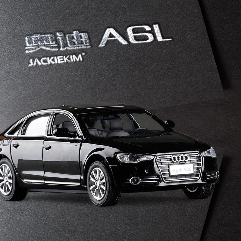 new luxury car 132 audi a6l alloy car model kids toy with pull back