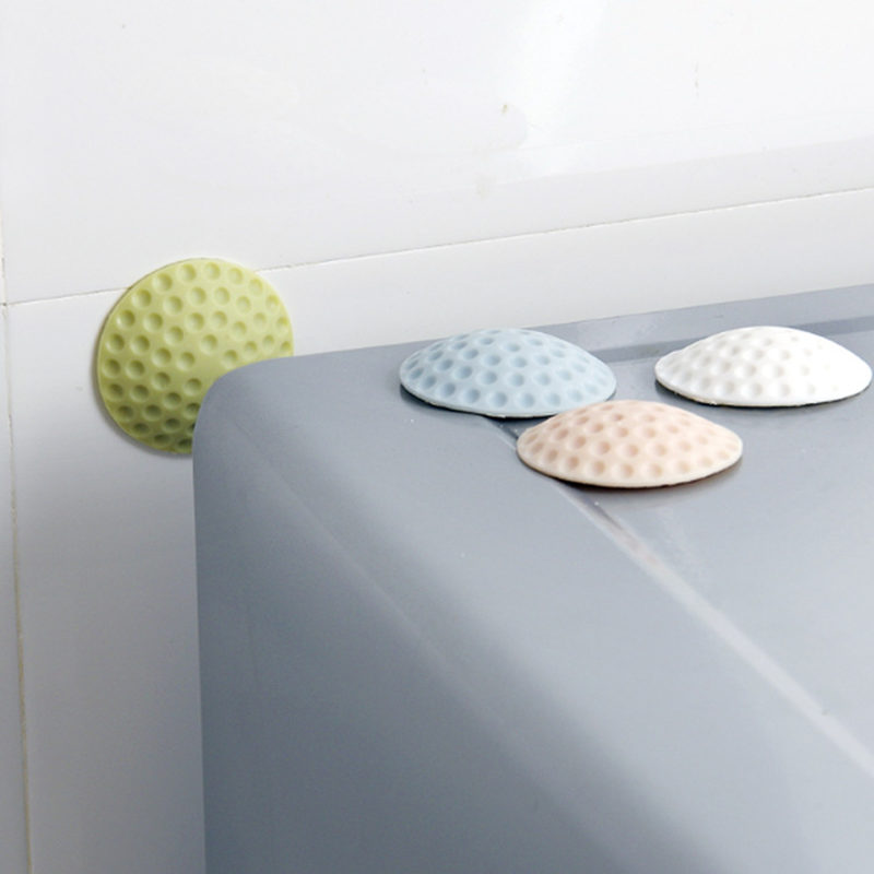2PCS Rubber Mute Wall Pad Anti-collision Crash Pad Doorknob Lock Protective Crash Pads Door Buffer Door Knob Mats Baby Safety