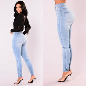 ITFABS Stretch Jeans Skinny-Pants Slim High-Waist Casual Denim Fashion Women Lady Hot