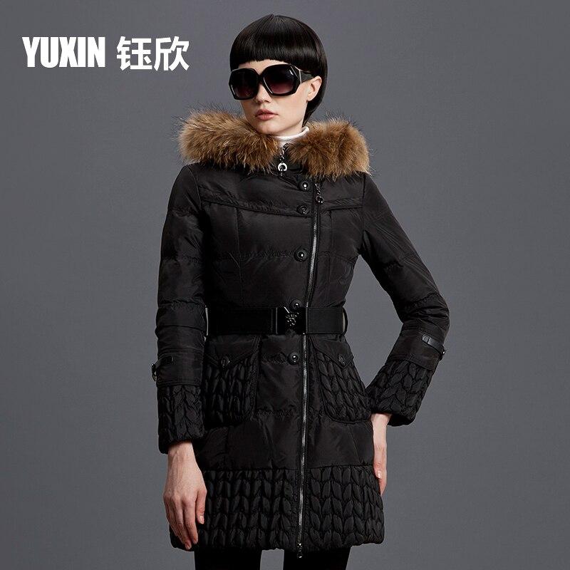 2015 Hot New Winter Warm Woman Down jacket Coat Parkas Outerwear Hooded Raccoon Fur collar Luxury High-end Long Plus Size 3XXXL