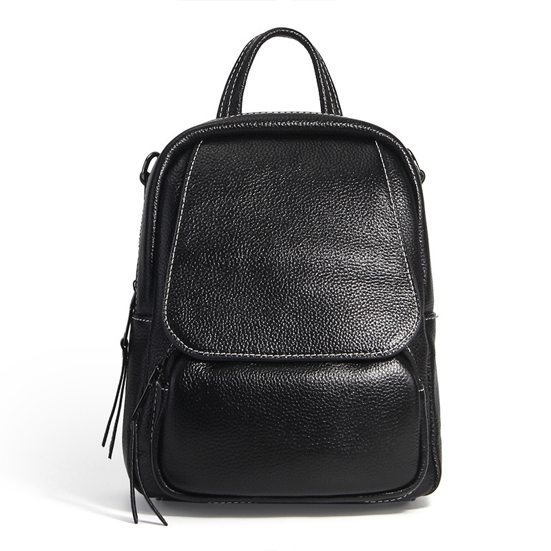 High quality genuine leather backpack women fashion travel backpack for teenage girls casual bags female shoulder bags #LF1906