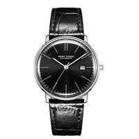 Reef Tiger Classic Serier RGA8215 Men Fashion Business Dress Ultra Thin Automatic Self wind Mechanical Wrist Watch Silver