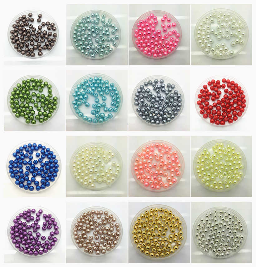 4//6//810mm AB Color Round Acrylic Bead Loose Spacer Beads For Jewelry Making