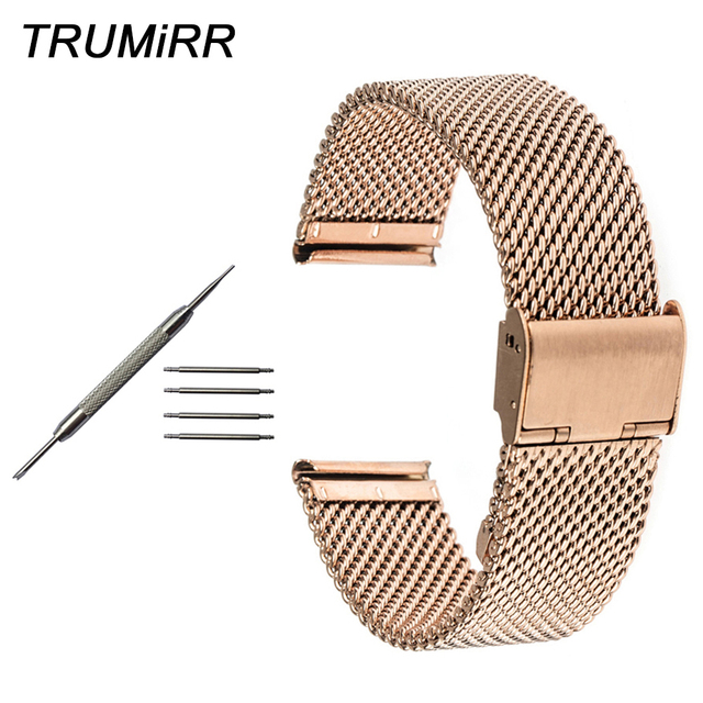 ea5dc2d7b Milanese Watchband 18mm 20mm 22mm 24mm for Patek Philippe Blancpain Men Women  Watch Band Stainless Steel Strap Wrist Bracelet