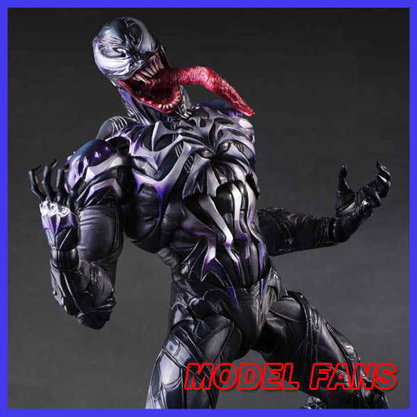 MODEL FANS Spider Man Action Figure Venom Spride Collection Model Toys Play Arts Kai Amazing Spiderman Play Arts Venom wvw 18cm hot sale movie hero spider man venom play arts model pvc toy action figure decoration for collection gift