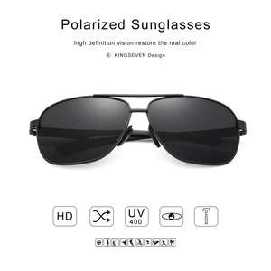Image 4 - KINGSEVEN New Aluminum Brand New Polarized Sunglasses Men Fashion Sun Glasses Travel Driving Male Eyewear Oculos N7188