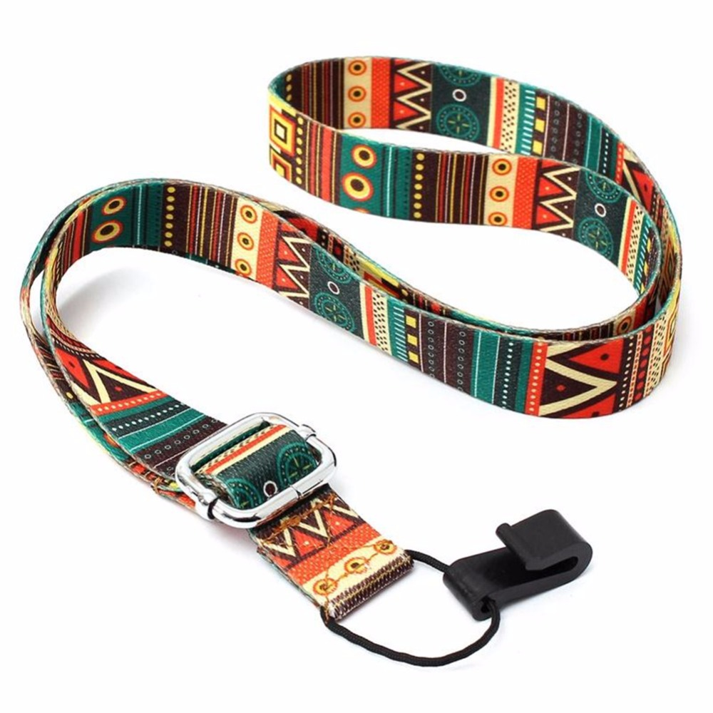 65-90cm Adjustable Nylon Colorful Vivid Printing Style Ukulele Strap belt Sling with hook Ukulele guitar Accessories