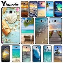 Yinuoda As Ondas Do Mar spray de Praia ilha do oceano Preto Caixa Do Telefone Para Samsung Galaxy j6plus j7 j8 prime prime j2 j4plus 2018 casos(China)