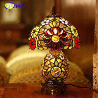 High Quality Tiffany Sun Flower Table Lamp Creative Stained Glass Table Lamp Home Decor Living Room