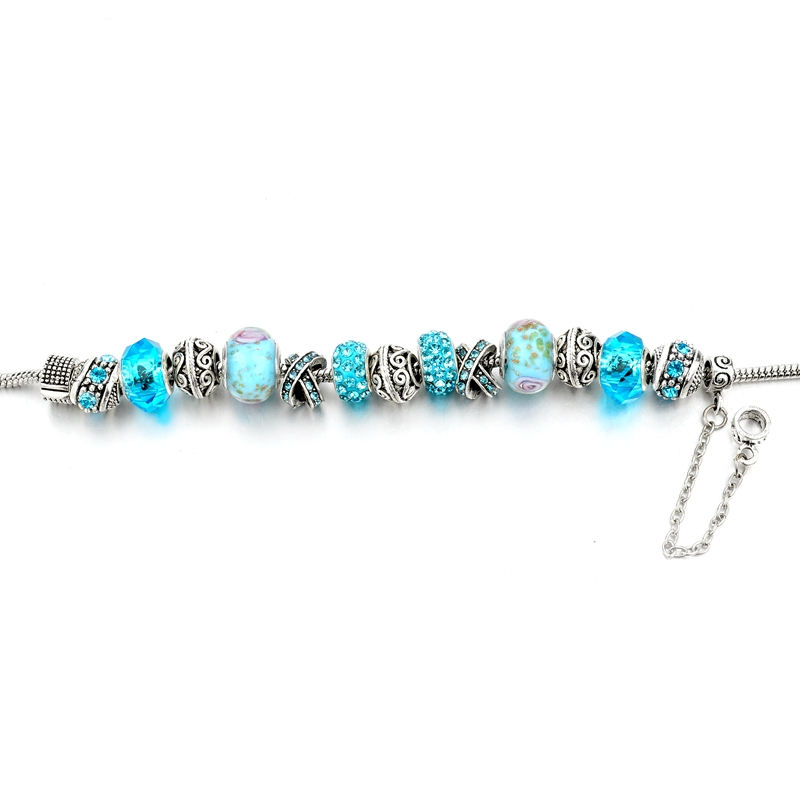CHICVIE Black Crystal Chain Link Bracelets For Women Female Charm Custom Bracelets & Bangles DIY Silver Color Jewelry SBR160014 22