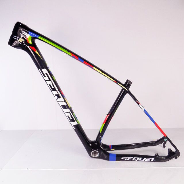 SEQUEL brand mountain bicycle bike frame 29er colorful carbon downhil bike frame glossy
