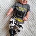 Baby christmas outfits boys clothing set boys clothes 2pcs kids set  tops + pants batman printing children's costume