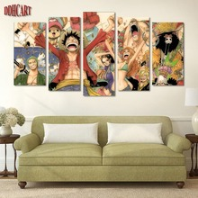 5 Piece Canvas Art Wall Art Prints Painting ONE PIECE Picture Canvas Home Decor Poster Modern Artwork for Living Room Decoration