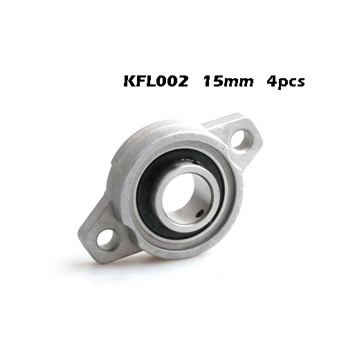 4pcs 15 mm bearing Zinc Alloy Miniature Bearings pedestal <font><b>KFL002</b></font> UCFL002 FL002 flange bearings diy cnc parts image