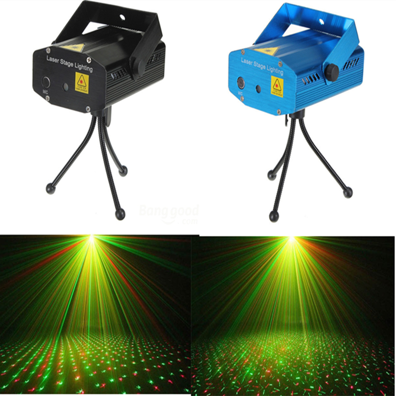 Lightsaber AC110V 220V R&G Laser Projector Stage Lighting Adjustment DJ Disco mini Professional laser stage lights blue / Black